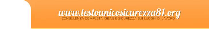 header testo unico sicurezza 81 . org